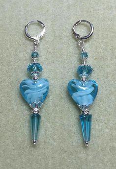 Crystal Jewelry, Wire Jewelry, Jewelry Crafts, Beaded Jewelry, Jewelery, Handcrafted Jewelry, Earrings Handmade, Homemade Jewelry, Jewelry Patterns