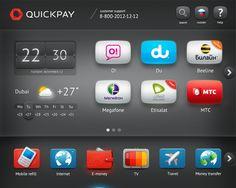Quickpay Machines UI by Alexander Toporov , via Behance