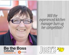 Be The Boss Canada Joey's Kim Be The Boss, Burns, Competition, Tv Shows, Management, Film, Movie, Film Stock