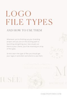 How to Use Your Logo File Types   Oaklyn Studio