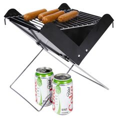 With a slim V shape and folding design, this portable grill is perfect for campsites and barbeques alike.  Product: Grill