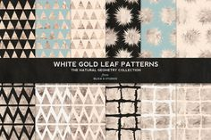 White Gold Foil Natural Patterns by Blixa 6 Studios on Creative Market