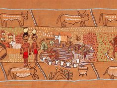 The Keiskamma Tapestry tells the intricate history of the South African Eastern Cape Frontier. Created by over 100 women from Hamburg and neighbouring villages it represents a group interaction of understanding and relationship development in the region. It is now on display in the Parliament buildings in Cape Town.