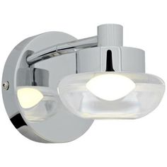 """Access Dewdrop 6"""" Wide Chrome Wall Sconce -"""