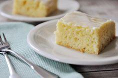 Glazed Lemon Yogurt Sheet Cake | Mel's Kitchen Cafe