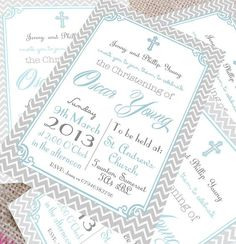 Christening invitations for boys: