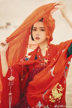 Red Asian beauty