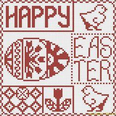 Happy Easter cross stitch sampler | Happy Stitch