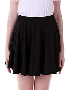 Women's Night Out Skirts - HDE Womens Skater Skirt Pleated Flared A Line Circle Stretch Waist Skater Skirt *** To view further for this item, visit the image link.