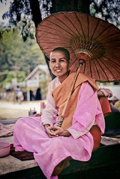 Myanmar Nun, Burma - by nowherean, via Flickr #buddhist #buddhism #nun