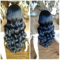 Hi Ladies!!! This is a high quality Human Hair/ Heat Resistant Synthetic Lace Front Wig. You can wash it, curl it, and heat it if you like!! The styles are endless, very beautiful!