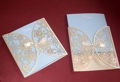 Participación de 15 años calada láser: modelo copos de nieve / Wedding laser cut invitation. Model: snowflake