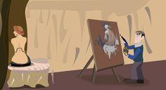 Jean Auguste Dominique Ingres - Pintando la Gran Bañista Princess Zelda, Illustrations, Fictional Characters, Illustration, Fantasy Characters, Illustrators