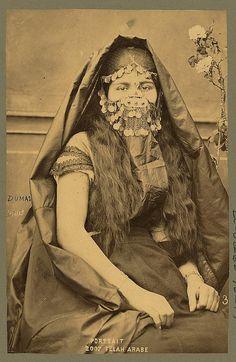 Arab Woman 1892 Egypt Africa Middle East Burka by PhotosandBacon Vintage Photographs, Vintage Photos, Egyptian Women, Egyptian Fashion, Native Girls, Arabian Women, Valley Of The Kings, Arab Girls, Retro Mode