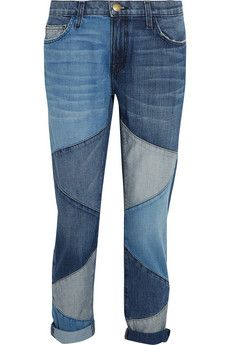 Current/Elliott The Fling patchwork low-rise boyfriend jeans | THE OUTNET