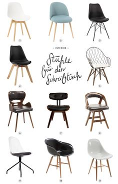 Chair for the desk- Stuhl für den Schreibtisch Chair for the desk - Table Design, Chair Design, Home Office Chairs, Office Furniture, Desk Office, Living Room Chairs, Dining Chairs, Lounge Chairs, Desk Chairs