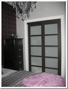 Great replacement closet doors plus love the makeover that the whole room received...