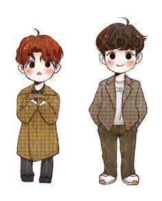Chanbaek Fanart, Exo Fan Art, Kpop Drawings, Kpop Exo, 3 Arts, My Youth, My Sunshine, Chanyeol, All Art