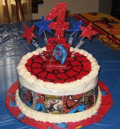 Spiderman bday cake