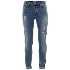 TOPMAN Aaa Off White Ripped Stretch Skinny Jeans (2,715 DOP ...