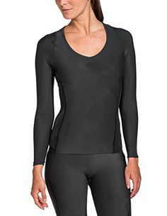 SKINS Womens Ry400 Recovery Long Sleeve Top  Black SmallH -- More info could be found at the image url.