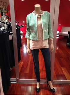 Clover Tweed Jacket, It Girl Cami, and the Ruby Jean http://nickidavis.cabionline.com