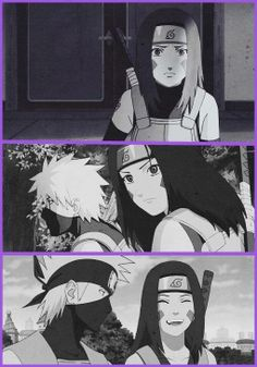 Kakashi and Rin. Okay help me out fellow Narutards! I have no idea whether I ship her with Obito or Kakashi. Of course,  in theory.