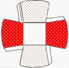 Lunares Rojos y Blancos: Cajas para Imprimir Gratis.