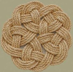 Stonk knots- design in rope Kringle Mat
