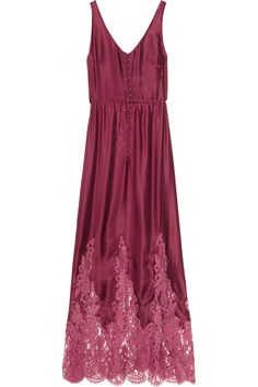 Rosamosario Vino e Vita silk-satin and lace nightdress