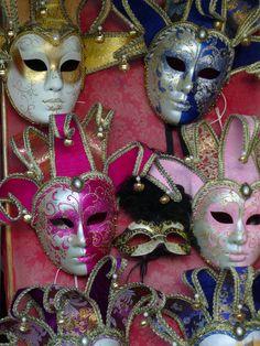 Maskers uit Venetie