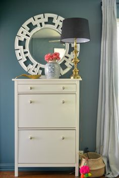 Spring Thangs | SG Style entry with IKEA hemnes shoe cabinet