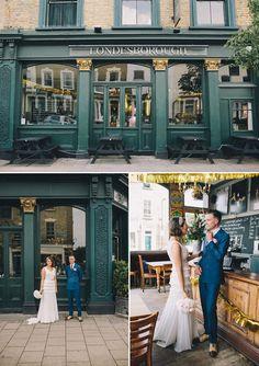 Stylish Sparkly Inspired Stoke Newington Wedding The Londesborough deco bride Pub Wedding, Wedding Reception Venues, Wedding Blog, Wedding Planner, Wedding Photos, Wedding Ideas, London Bride, London Wedding, Wedding Bunting