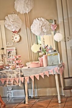 Girl Birthday Party! For vintage theme! This is just a picture!