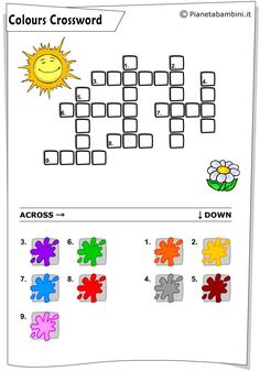 Kids English, English Class, Mickey Coloring Pages, Phonics Lessons, German Language Learning, Educational Games For Kids, Book Activities, Activity Books, Crossword