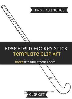 Free Field Hockey Stick Template - Clipart