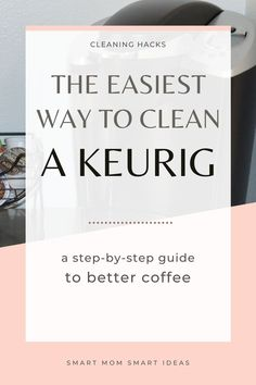 Did you know that you can clean your Keurig in just 15 minutes? Even if you thought it was broken, it might just need a cleaning to work like new again. Weekly Cleaning Checklist, Deep Cleaning Tips, Cleaning Hacks, Time Management Tips, Keurig, Step By Step Instructions, Homemaking, Clean House, Helpful Hints