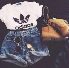Resultado de imagen para adidas shoes cool girl outfits