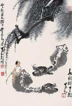 李可染-春韵醉牛 by China Online Museum - Chinese Art Galleries, via Flickr