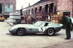 AC Car's version of the Cobra Coupe prior to the 1964 Le Mans race. Painted a light metallic green.