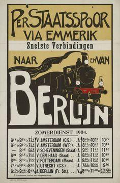 Per Staatsspoor via Emmerik Snelste verbindingen naar en van Berlijn…