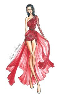 Fashion Illustration: How to draw an embroidered dress