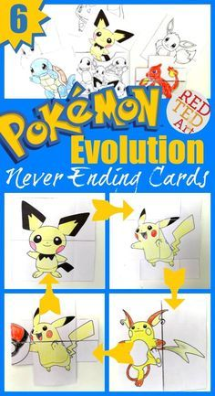 Fun fun fun! If you love Pokemon or Pokemon Go, you MUST check out these fantastic DIY Pokemon Evolution Cards. They are magically fun to create and play with. Send them as greeting cards or stash them in your special Pokemon wallet. There are 6 DIY Pokemon Card designs - Pikachu, Eeevee, Squirtle, Charmander, Bulbasaur and Chikorita. Enjoy. Free Pokemon Printables!