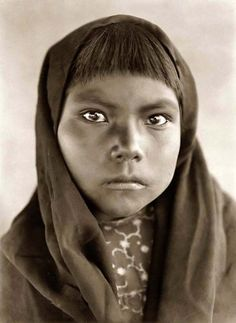 Qahatika Indian Child. It was taken in 1907 by Edward S. Curtis.