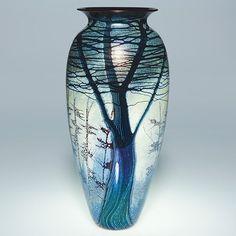 """Richard Satava """"Mt. Shasta"""" vase"""