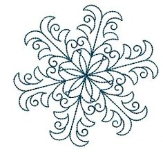 Swirl Snowflake 3 - 4x4 | Winter | Machine Embroidery Designs | SWAKembroidery.com VK-Digitizing