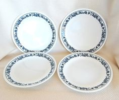 Corelle Old Town Blue Luncheon or Salad Plates. Tattoo design? My sister and i would fight over who would get the one blue plate.