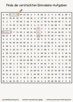 Einmaleins Gemischte übungsaufgaben Math Mathe Einmaleins Und