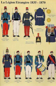 La Légion de 1835 à 1870