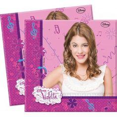 20 serviettes Violetta 2 plis 33x33